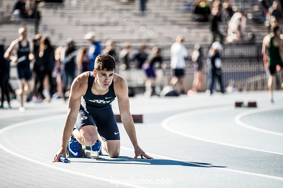 _E1_9262<br /> <br /> 17mTRK Robison Invite<br /> <br /> April 29, 2017<br /> <br /> Photography by Nate Edwards/BYU<br /> <br /> &copy; BYU PHOTO 2016<br /> All Rights Reserved<br /> photo@byu.edu  (801)422-7322