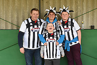 Grimsby Town fans pictured ahead of the FA Trophy Semi Final first leg match between Bognor Regis and Grimsby Town at Nyewood Lane, Bognor Regis, England on 12 March 2016. Photo by Paul Paxford/PRiME Media Images.