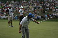 Graeme McDowell watching his birdie putt on the 8th during the opening fourball at the 37th Ryder Cup at Valhalla Golf Club, Louisville, Kentucky, USA - 19th September 2008 (Photo by John Hetherton/GOLFFILE)