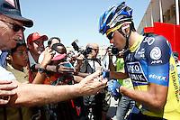 Alberto Contador with the fans during the stage of La Vuelta 2012 between Logroño and Logroño.August 22,2012. (ALTERPHOTOS/Paola Otero) /NortePhoto.com<br /> <br /> **SOLO*VENTA*EN*MEXICO**<br /> **CREDITO*OBLIGATORIO**<br /> *No*Venta*A*Terceros*<br /> *No*Sale*So*third*<br /> *** No Se Permite Hacer Archivo**<br /> *No*Sale*So*third*