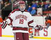 Jimmy Vesey (Harvard - 19) - The Harvard University Crimson defeated the visiting Princeton University Tigers 5-0 on Harvard's senior night on Saturday, February 28, 2015, at Bright-Landry Hockey Center in Boston, Massachusetts.