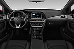 Stock photo of straight dashboard view of a 2018 Hyundai Sonata Sport 4 Door Sedan