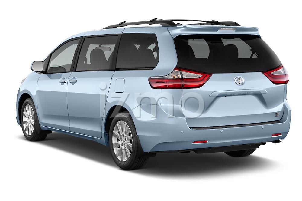 Car pictures of rear three quarter view of2015 Toyota Sienna XLE V6 8-Passenger 5 Door Mini Van Angular Rear