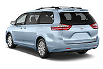 Car pictures of rear three quarter view of2015 Toyota Sienna XLE V6 8-Passenger 5 Door Mini Van Angular Rear