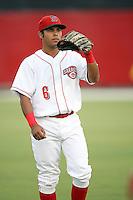 August 13, 2008: Jose Castro (6) of the Sarasota Reds at Ed Smith Stadium in Sarasota, FL. Photo by: Chris Proctor/Four Seam Images