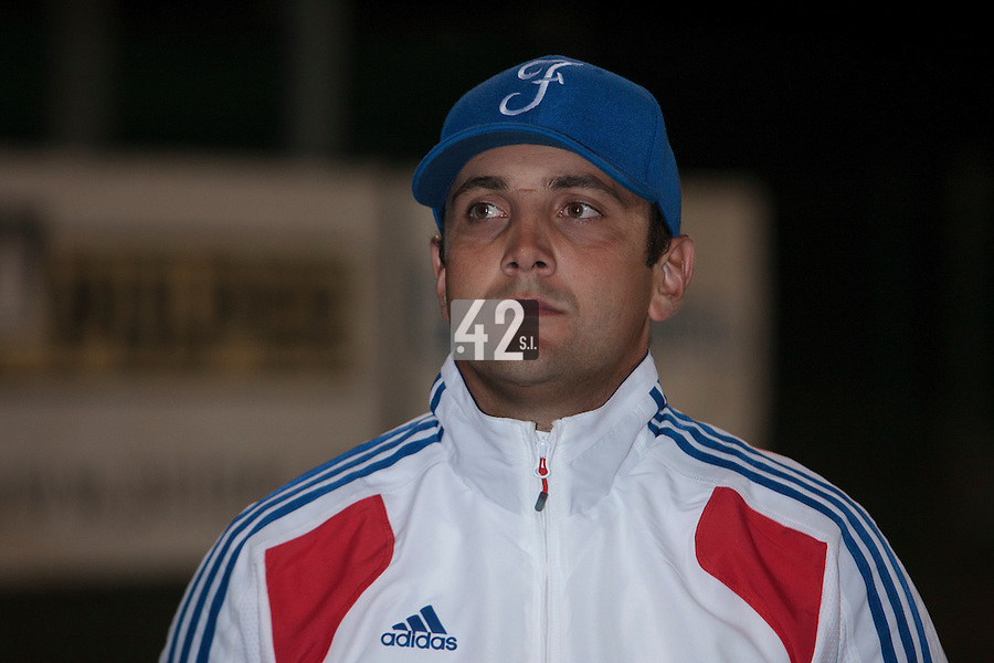 21 August 2010: Jean-Michel Mayeur of Team France is seen after Russia 13-1 win in 7 innings over France, at the 2010 European Championship, under 21, in Brno, Czech Republic.