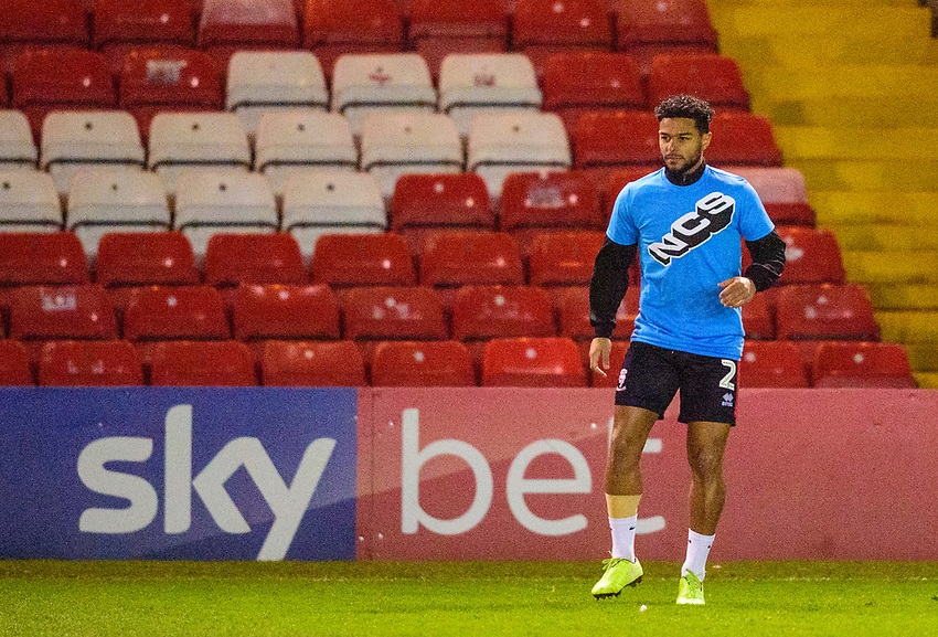 Lincoln City's Liam Bridcutt during the pre-match warm-up<br /> <br /> Photographer Andrew Vaughan/CameraSport<br /> <br /> The EFL Sky Bet League One - Lincoln City v Milton Keynes Dons - Tuesday 11th February 2020 - LNER Stadium - Lincoln<br /> <br /> World Copyright © 2020 CameraSport. All rights reserved. 43 Linden Ave. Countesthorpe. Leicester. England. LE8 5PG - Tel: +44 (0) 116 277 4147 - admin@camerasport.com - www.camerasport.com