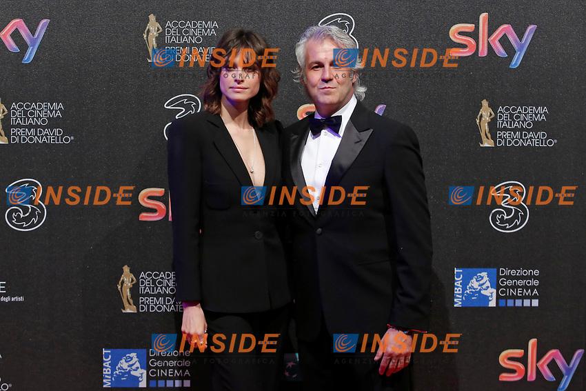 Kasia Smutniak e Domenico Procacci<br /> Roma 27-03-2017. Premio David di Donatello 2017.<br /> Rome March 27th 2017. David di Donatello ceremony 2017. <br /> Foto Samantha Zucchi Insidefoto