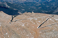 Mount Evans with Crest House and Meyer-Womble Observatory