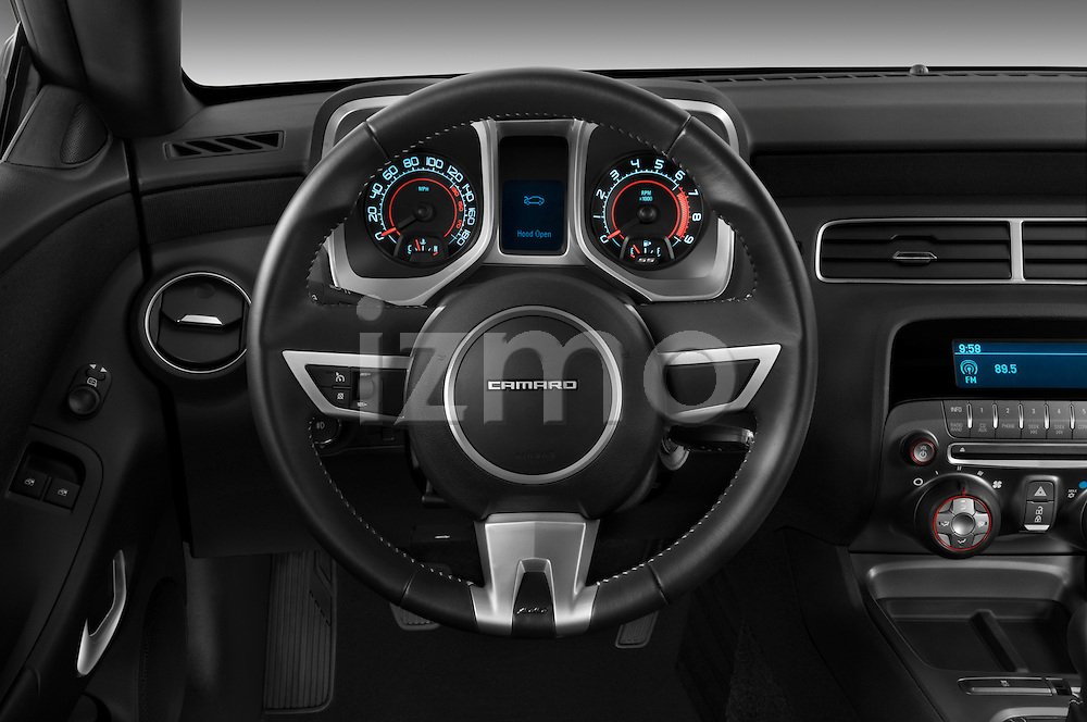 Steering wheel view of a 2010 Chevrolet Camaro SS