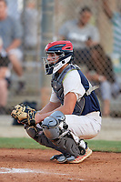 Eddie Micheletti (8) during the WWBA World Championship at the Roger Dean Complex on October 11, 2019 in Jupiter, Florida.  Eddie Micheletti attends Wilmington Friends High School in Wilmington, DE and is committed to George Washington.  (Mike Janes/Four Seam Images)