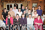 5-OH CELEBRATIONS: Colm Noble, Forge Park,Tralee (seated centre) celebrated his 50th birthday last Saturday night in the Meadowlands hotel,Tralee with many family and friends.