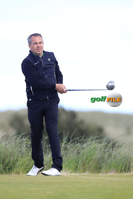 Pat Murray (Limerick) on the 10th tee during Round 2 of the East of Ireland Amateur Open Championship at Co. Louth Golf Club, Baltray on Sunday 30th May 2015.<br /> Picture:  Thos Caffrey / www.golffile.ie