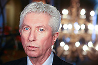 Gilles Duceppe talks at Steelworkers' convention at the Chateau Frontenac in Quebec City November 19, 2010. November 19, 2010.<br /> <br /> PHOTO :  Francis Vachon - Agence Quebec Presse