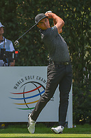 Rickie Fowler (USA) watches his tee shot on 12 during round 2 of the World Golf Championships, Mexico, Club De Golf Chapultepec, Mexico City, Mexico. 3/2/2018.<br /> Picture: Golffile | Ken Murray<br /> <br /> <br /> All photo usage must carry mandatory copyright credit (&copy; Golffile | Ken Murray)