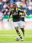Solna 2014-07-12 Fotboll Allsvenskan AIK - Kalmar FF :  <br /> AIK:s Henok Goitom i aktion <br /> (Foto: Kenta J&ouml;nsson) Nyckelord:  AIK Gnaget Friends Arena Kalmar KFF portr&auml;tt portrait