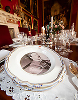 BNPS.co.uk (01202 558833)<br /> Pic: PhilYeomans/BNPS<br /> <br /> The 9th Duke.<br /> <br /> Let's Misbehave - A fascinating insight into the heady world of the upper classes in the roaring twenties has opened at Blenheim Palace.<br /> <br /> The 9th Duke of Marlborough and his second wife, American intellectual Gladys Deacon, were lavish hosts at the baroque Oxfordshire Palace.<br /> <br /> Their frequent house parties in a time of great social, artistic and political change were attended by friends as diverse as Winston Churchill, Edith Sitwell, Jacob Epstein and Bloomsbury set founders Lytton Strachey and Virginia Woolf.<br /> <br /> The exhibition showcases their lavish lifestyles in a series of scenes within the Palaces elegant State Rooms.<br /> <br /> Actors portraying the leading characters interact with the visiting public to give a flavour of the famously decadent decade.