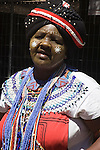 South African woman in traditional dress, Cape Town, South Africa