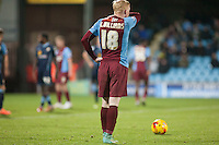 Luke Williams of Scunthorpe U takes a free kick<br />  - Scunthorpe United vs Crewe Alexandra - Sky Bet League One Football at Glanford Park, Scunthorpe, Lincolnshire - 13/12/14 - MANDATORY CREDIT: Mark Hodsman/TGSPHOTO - Self billing applies where appropriate - contact@tgsphoto.co.uk - NO UNPAID USE
