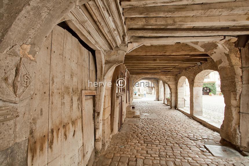 France, Yonne (89), Noyers-sur-Serein, labellisé Les Plus Beaux Villages de.France, passage couvert // France, Yonne (89), Noyers-sur-Serein,  labelled Les Plus Beaux Villages de France (The most beautiful villages of France)