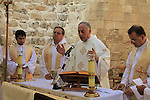 Israel, Lower Galilee, Feast of Joachim and Anne at the Crusader Church of St. Anne in Zippori