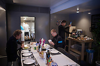 breakfast for the riders in the Team SKY foodtruck<br /> <br /> Team SKY foodtruck<br /> 2015 Vuelta &agrave; Espana