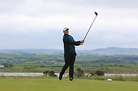 Colm Campbell Jnr (Warrenpoint) on the 18th tee during Round 2 of the North of Ireland Amateur Open Championship 2019 at Portstewart Golf Club, Portstewart, Co. Antrim on Tuesday 9th July 2019.<br /> Picture:  Thos Caffrey / Golffile<br /> <br /> All photos usage must carry mandatory copyright credit (© Golffile | Thos Caffrey)