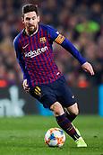 6th February 2019, Camp Nou, Barcelona, Spain; Copa del Rey football semi final, 1st leg, Barcelona versus Real Madrid; Lionel Messi of FC Barcelona controls the ball