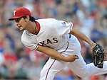 Yu Darvish (Rangers),.APRIL 30, 2013 - MLB :.Yu Darvish of the Texas Rangers pitches during the baseball game against the Chicago White Sox at Rangers Ballpark in Arlington in Arlington, Texas, United States. (Photo by AFLO)