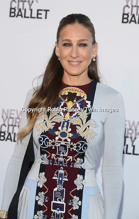 Sarah Jessica Parker attends the New York City Ballet's 3rd Annual  Fall Fashion Gala on September 23, 2014 at David Koch Theatre in Lincoln Center in New York City. <br /> <br /> photo by Robin Platzer/Twin Images<br />  <br /> phone number 212-935-0770
