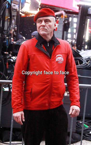 New York, NY-December 31: Curtis Sliwa at the 2014 New Years Eve Celebration held in Times Square on December 31, 2013 in New York City.<br />