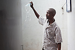 """Julius Irungu, 30, will finish his treatment for MDR-TB in May 2011. When he arrived for treatment 2 years ago he could barely walk 100 yards. """" Look how beautiful i am now!"""" he said."""