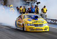 Jul. 19, 2013; Morrison, CO, USA: NHRA pro stock driver Jeg Coughlin Jr during qualifying for the Mile High Nationals at Bandimere Speedway. Mandatory Credit: Mark J. Rebilas-