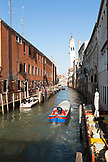 ITALY, Venice. View of canal and homes.