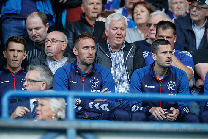28.07.2019 Rangers v Derby County: Ryan Jack, Allan McGregor and Jamie Murphy
