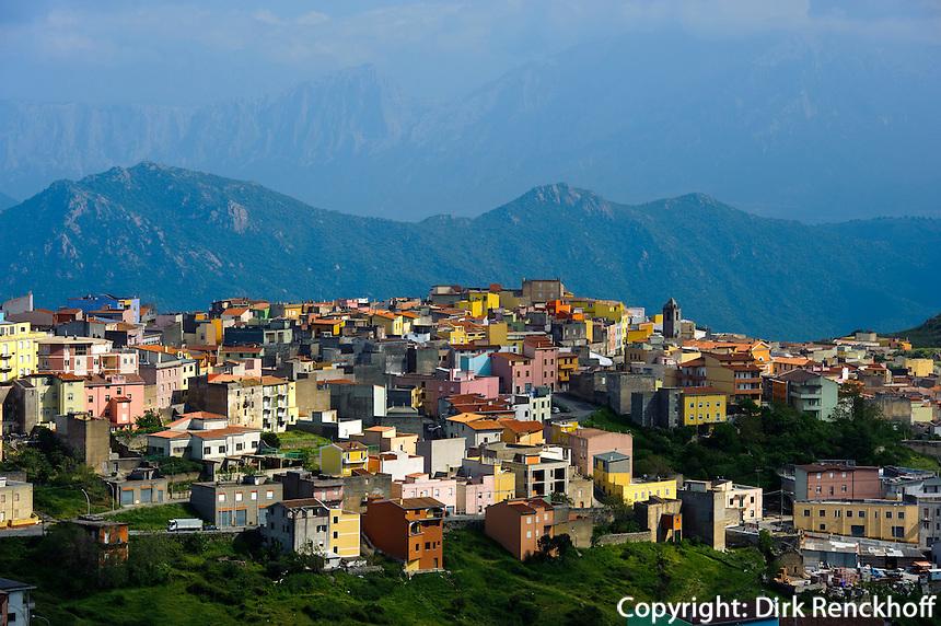 Blick auf  Orune,  Provinz Nuoro, Inner- Sardinien, Italien