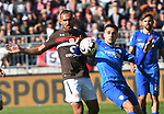 12.05.2019,  GER; 2. FBL, FC St. Pauli vs Vfl Bochum ,DFL REGULATIONS PROHIBIT ANY USE OF PHOTOGRAPHS AS IMAGE SEQUENCES AND/OR QUASI-VIDEO, im Bild  Kevin Lankford (Pauli  #07) versucht sich gegen Milos Pantovic (Bochum #27) durchzusetzen Foto © nordphoto / Witke