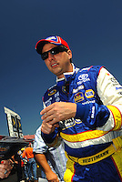 Apr 25, 2009; Talladega, AL, USA; NASCAR Sprint Cup Series driver Davifd Reutimann during qualifying for the Aarons 499 at Talladega Superspeedway. Mandatory Credit: Mark J. Rebilas-