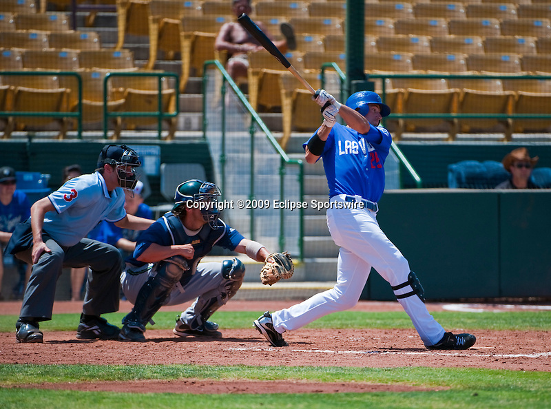 25 May 2009: 51s outfielder Buck Coats singles in the bottom of the third inning.