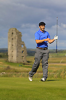 Eoin O'Brien (Dun Laoghaire) on the 13th tee during Round 2 of The South of Ireland in Lahinch Golf Club on Sunday 27th July 2014.<br /> Picture:  Thos Caffrey / www.golffile.ie