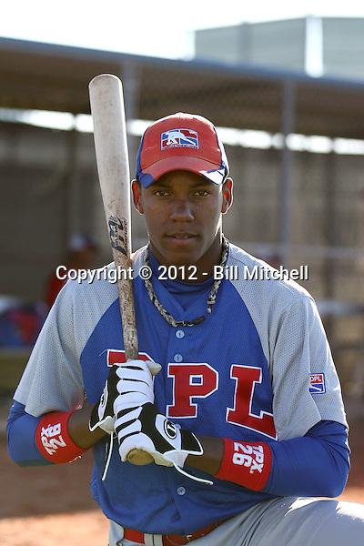 Julio De La Cruz - Dominican Prospect League all-stars 2012 minor league spring training (Bill Mitchell)