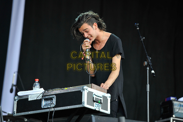 Matthew Healy of The 1975<br /> Glastonbury Festival, Worthy Farm, Pilton, Somerset, England 29th June 2013<br /> performing in concert gig live on stage<br /> CAP/MAR<br /> &copy; Martin Harris/Capital Pictures