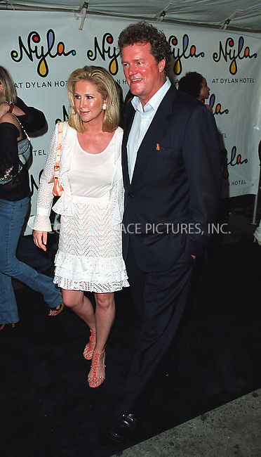 Kathy and Rick Hilton arrive at the opening of Britney Spears' restaurant Nyla at New York's Dylan Hotel. June 27, 2002. Please byline: Alecsey Boldeskul/NY Photo Press.   ..*PAY-PER-USE*      ....NY Photo Press:  ..phone (646) 267-6913;   ..e-mail: info@nyphotopress.com