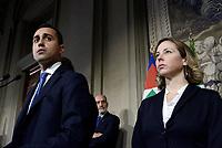 Roma, 12 Aprile 2018<br /> Movimento 5 Stelle<br /> Luigi Di Maio, Giulia Grillo<br /> Secondo giro di Consultazioni per la formazione del Governo