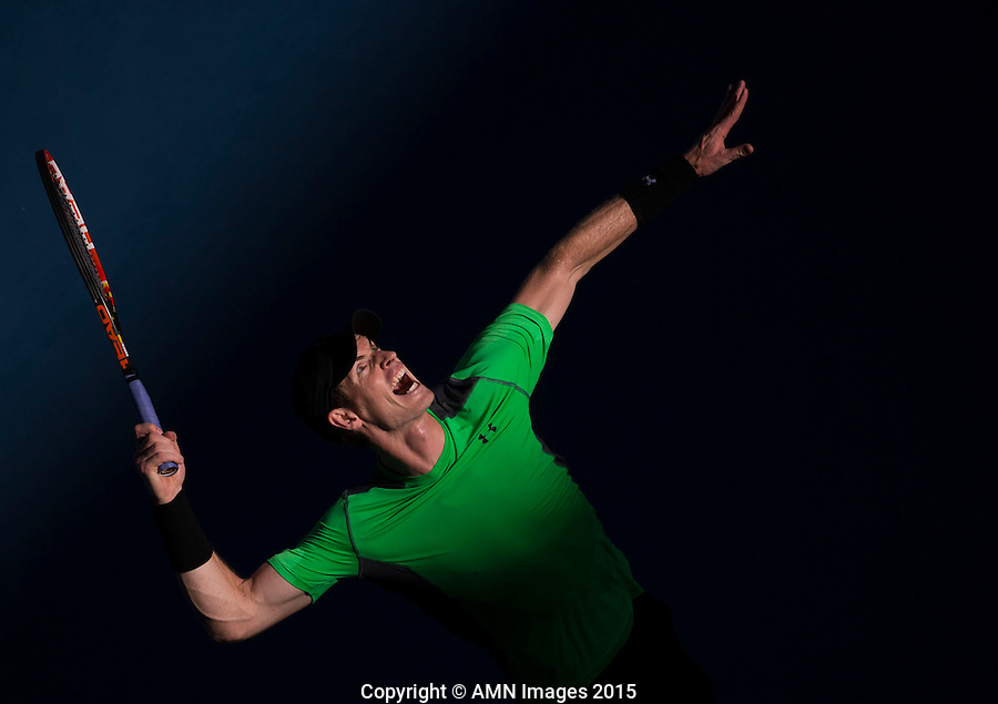 Andy Murray (GBR)<br /> <br /> Tennis - Australian Open 2015 - Grand Slam -  Melbourne Park - Melbourne - Victoria - Australia  - 23 January 2015. <br /> &copy; AMN IMAGES