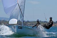 470 men / Alexander CONWAY &amp; Patrick CONWAY (AUS)<br /> ISAF Sailing World Cup Final - Melbourne<br /> St Kilda sailing precinct, Victoria<br /> Port Phillip Bay Wednesday 7 Dec 2016<br /> &copy; Sport the library / Jeff Crow