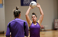 29.08.2017 Silver Ferns Mai Wilson in action during the Silver Ferns training in Auckland. Mandatory Photo Credit ©Michael Bradley.
