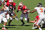 Wisconsin Badgers running back James White (20) carries the ball during an NCAA college football game against the Oregon State Beavers on September 10, 2011 in Madison, Wisconsin. The Badgers won 35-0. (Photo by David Stluka)