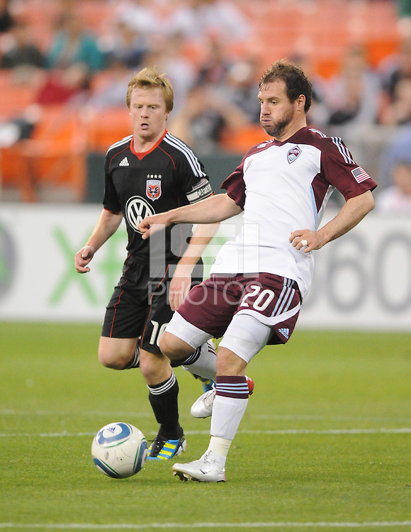 Colorado Rapids midfielder Jamie Smith (20)    DC United tied The Colorado Rapids 1-1, at RFK Stadium, Saturday  May 14, 2011.