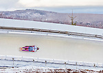 9 January 2016: Hansin Lee, competing for South Korea, slides through Curve 14 on his second run of the day during the BMW IBSF World Cup Skeleton Championships at the Olympic Sports Track in Lake Placid, New York, USA. Lee ended the day with a combined 2-run time of 1:51.62 and a 19th place overall finish. Mandatory Credit: Ed Wolfstein Photo *** RAW (NEF) Image File Available ***
